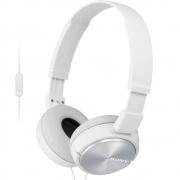 Fone de Ouvido Sony ZX310 Branco Headphone com Microfone para Celular Smartphone Tablet MDR-ZX310AP