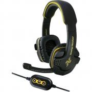 Headset Gamer 7.1 USB Bright 0354 Fone de Ouvido com Microfone Preto Amarelo Som Grave e Volume Alto