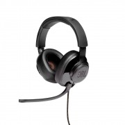 Headset Gamer JBL Quantum 300 Fone de ouvido Over-ear Som Surround Conector 3,5mm P3 + Adaptador USB