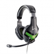 Headset Gamer Warrior Harve Multilaser PH298 Verde Super Bass Fone de Ouvido com Microfone 2 Plug P2