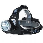 Lanterna de Cabeça LED 10W CREE T6 Quanta QTLDC41 + Baterias  + Carregador