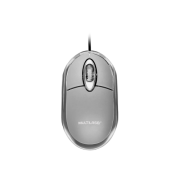 Mouse Multilaser MO180 Classic Cinza Óptico USB 800 DPI