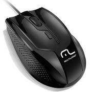Mouse Óptico Profissional 6 Botões 1600DPI USB Preto Multilaser MO164