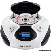 Rádio Boombox Toca CD Multilaser SP181 Branco MP3 Player Rádio FM USB SD AUX