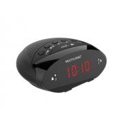 Rádio Relógio Digital Multilaser SP352 FM com Alarme Despertador Timer Função Soneca Bateria Backup