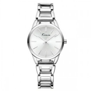 Relógio Feminino Kimio KW6105 Prata Redondo Pulseira de Metal Prateado