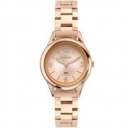 Relógio Feminino Rose Pequeno Condor Mini Pulseira Estreita de Metal Aço Inoxidável COPC21AEDA/7J