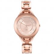 Relógio Feminino Technos Elegance Elos Rose Gold Aço Inox Pulseira Rosê Máquina Japonesa GL20HN/1T