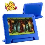 Tablet Infantil Kid Pad Go Multilaser NB302 Capa Azul 16GB Bluetooth Wi-Fi Youtube Netflix Jogos