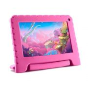 Tablet Infantil Kid Pad Go Multilaser NB303 Capa Rosa 16GB Bluetooth Wi-Fi Youtube Netflix Jogos