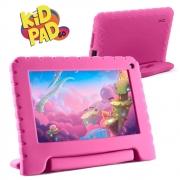 Tablet Infantil Kid Pad Go Multilaser NB303 Capa Rosa 16GB Bluetooth Wi-Fi Youtube Netflix Jogos