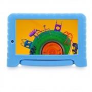 Tablet Infantil Multilaser Discovery Kids NB309 com Capa Emborrachada Azul 16GB Wi-Fi Dual Câmera