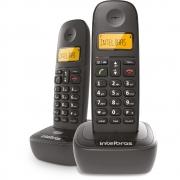 Telefone Sem Fio Intelbras TS2512 ID Preto Com Ramal Identificador de Chamadas e Display luminoso