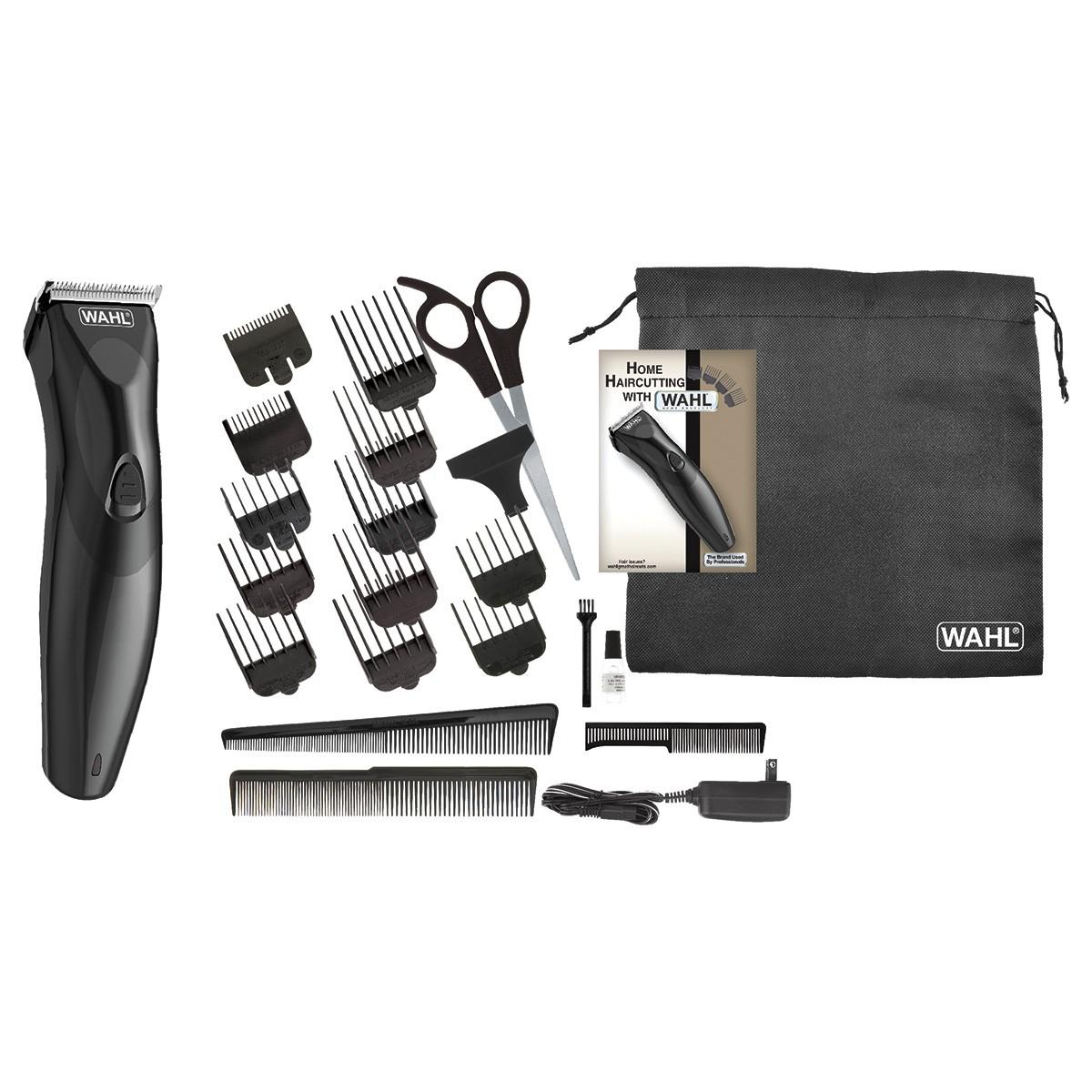 Aparador de Cabelo e Barba Wahl Haircut & Beard Bivolt Máquina de Cortar Cabelo Bateria Recarregável