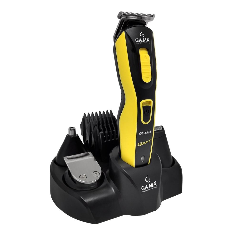Aparador Gama GCX623 Sport 9 em 1 Máquina de Cortar Cabelo Barba Recarregável Uso Com e Sem Fio