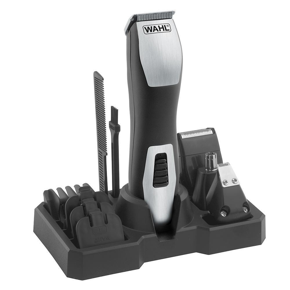 Aparador Wahl GroomsMan Pro Máquina de Cortar Cabelo Barba Pelos Bivolt com Bateria Recarregável