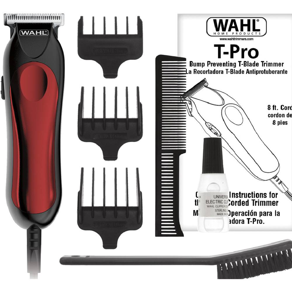 Aparador Wahl Clipper T-PRO Máquina de Corte para Cortar Cabelo Barba Pelos Bivolt 110V 220V