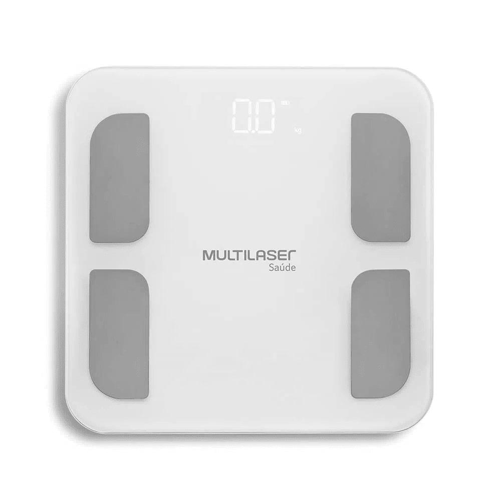 Balança de Bioimpedância Digital Multilaser BioHealth Pro HC060 Bluetooth Mede Composição Corporal