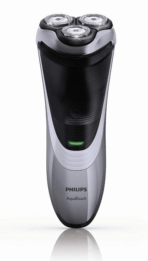 Barbeador Elétrico Philips AT891 AquaTouch Plus Seco Molhado Com Aparador de Barba Bigode Retrátil