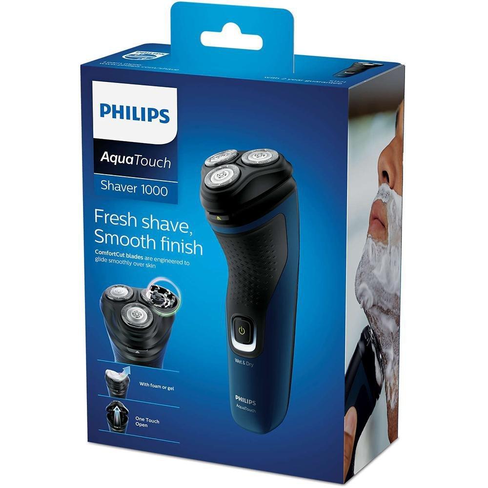 Barbeador Philips AquaTouch S1121 Seco Molhado Aparador de Barba Sem Fio À Prova D'água S1121/41