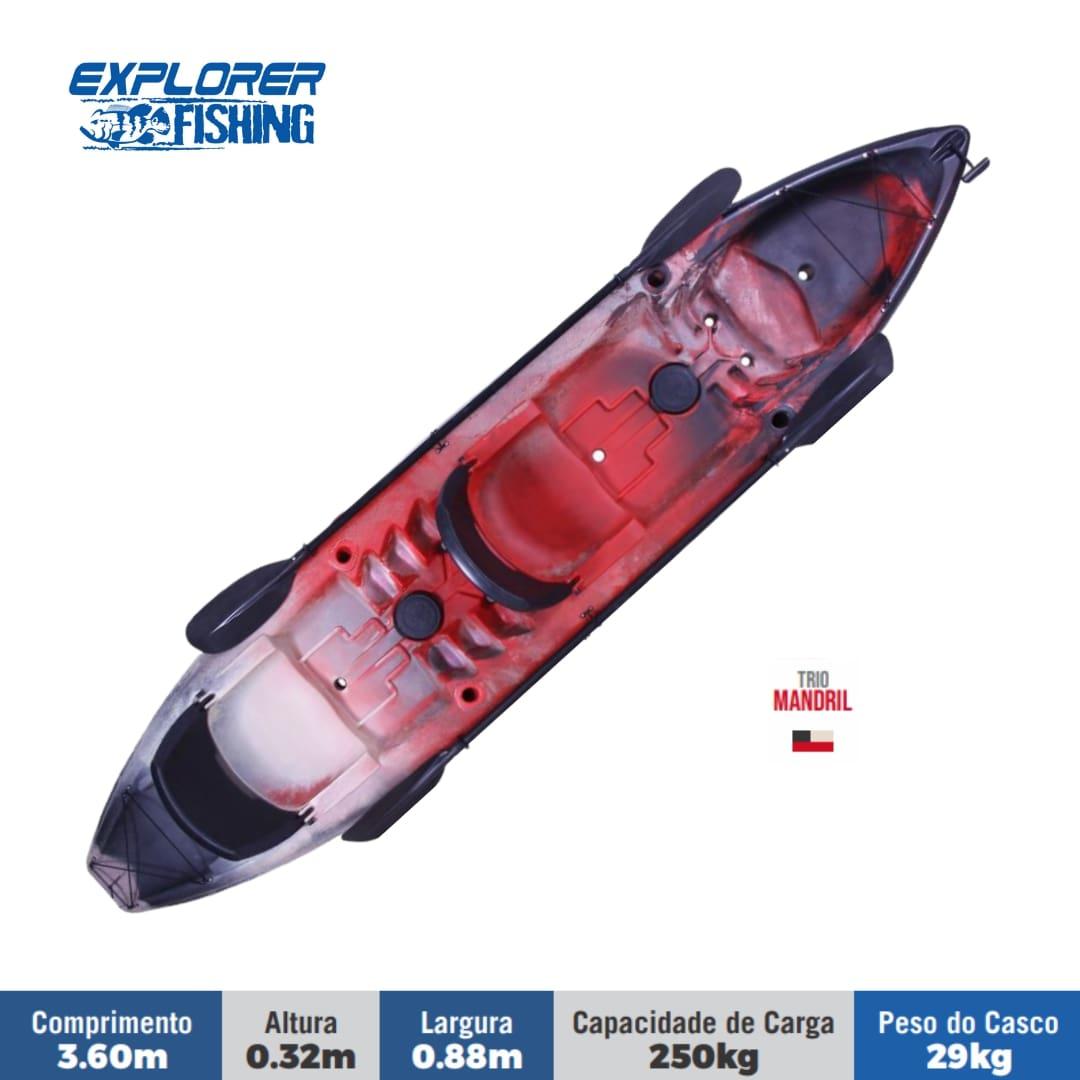 Caiaque Brudden Náutica Explorer Fishing UP Para Pesca Com Dois Bancos Capacidade de carga 250 kg