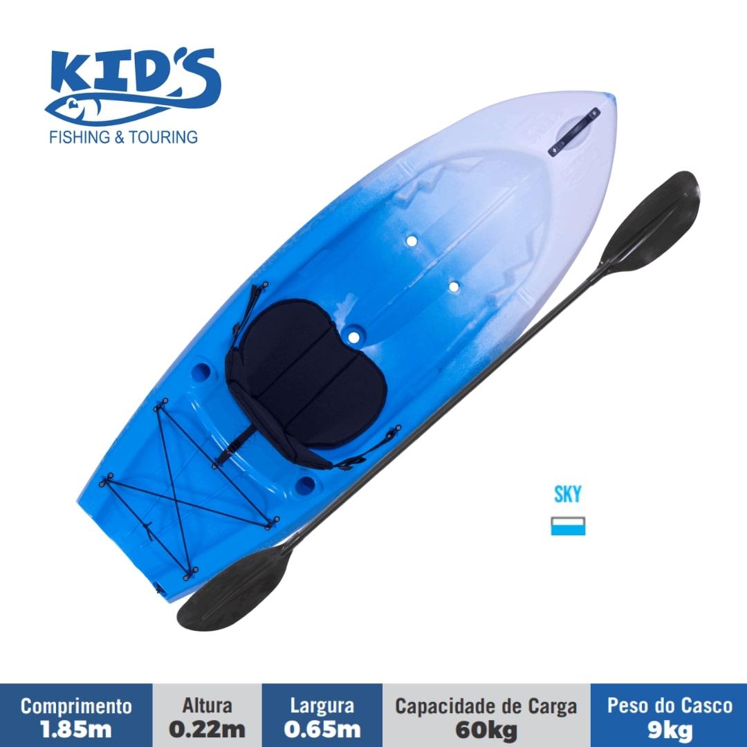 Caiaque Brudden Náutica Kid's Fishing e Tourning Turismo e Pesca Capacidade de Carga 60 kg Para Crianças