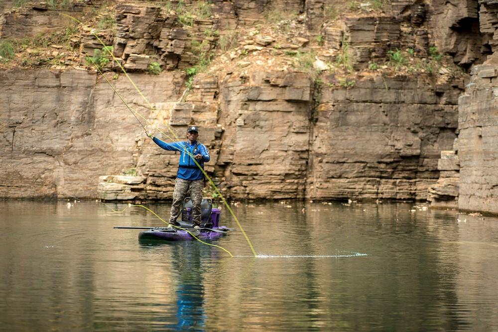 Caiaque Brudden Náutica Manta Sup & Fishing - Combo Com Cooler de 15 l Prancha Stand UP Paddle de Pesca