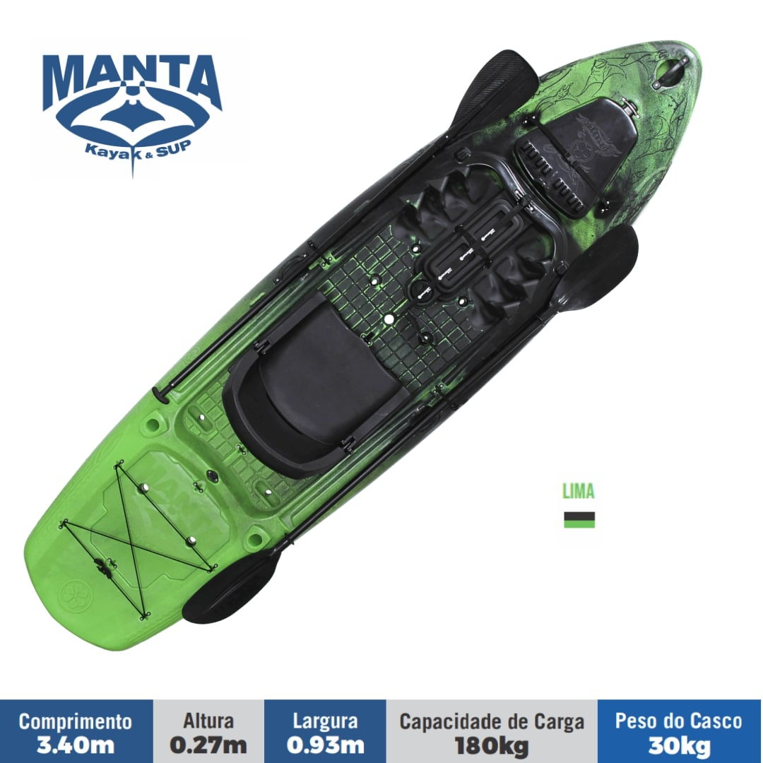 Caiaque Brudden Náutica Manta Sup & Fishing Prancha Stand UP Paddle de Pesca Capacidade de Carga 180 kg
