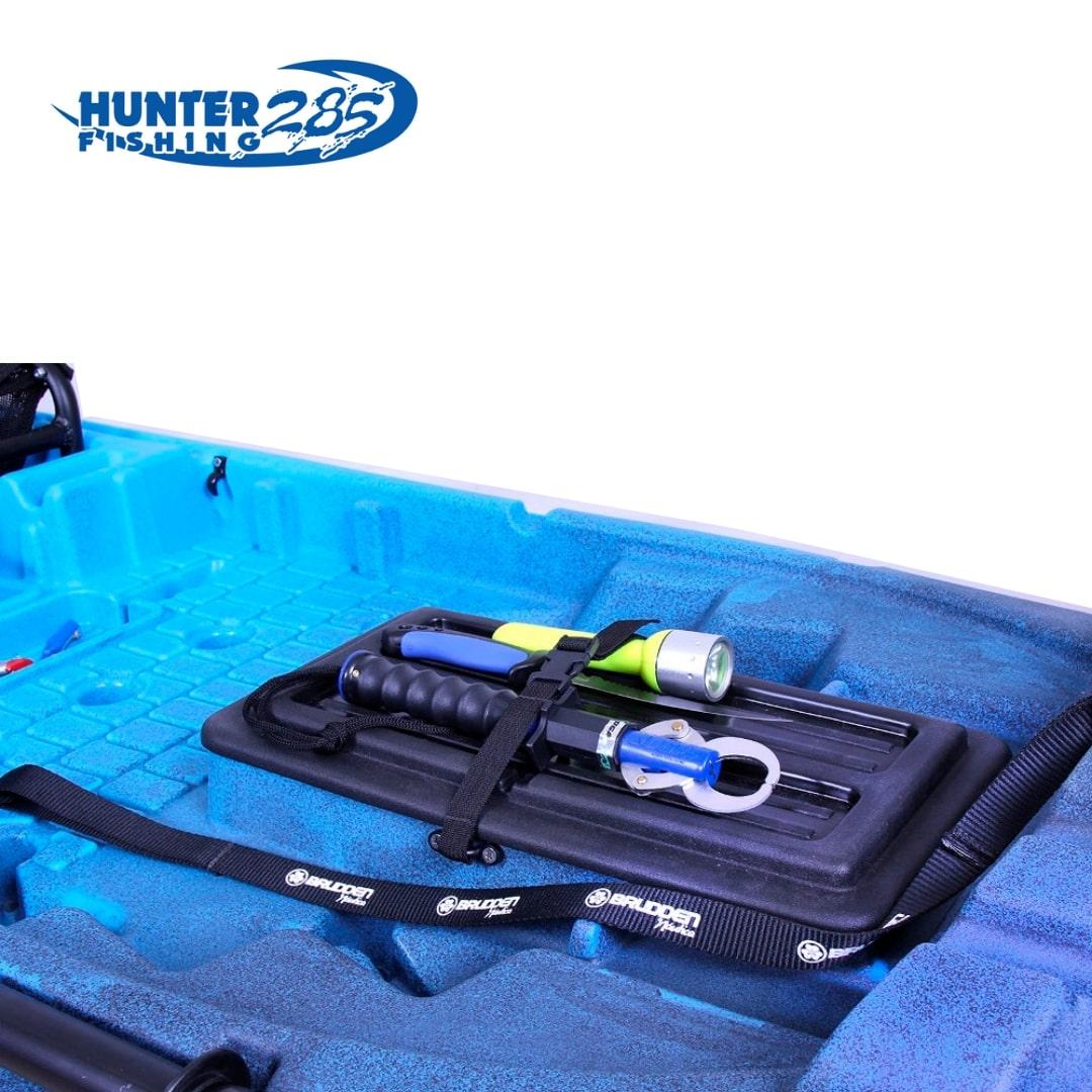 Caiaque Brudden Náutica para pesca Hunter Fishing 285 Capacidade de Carga 170 kg