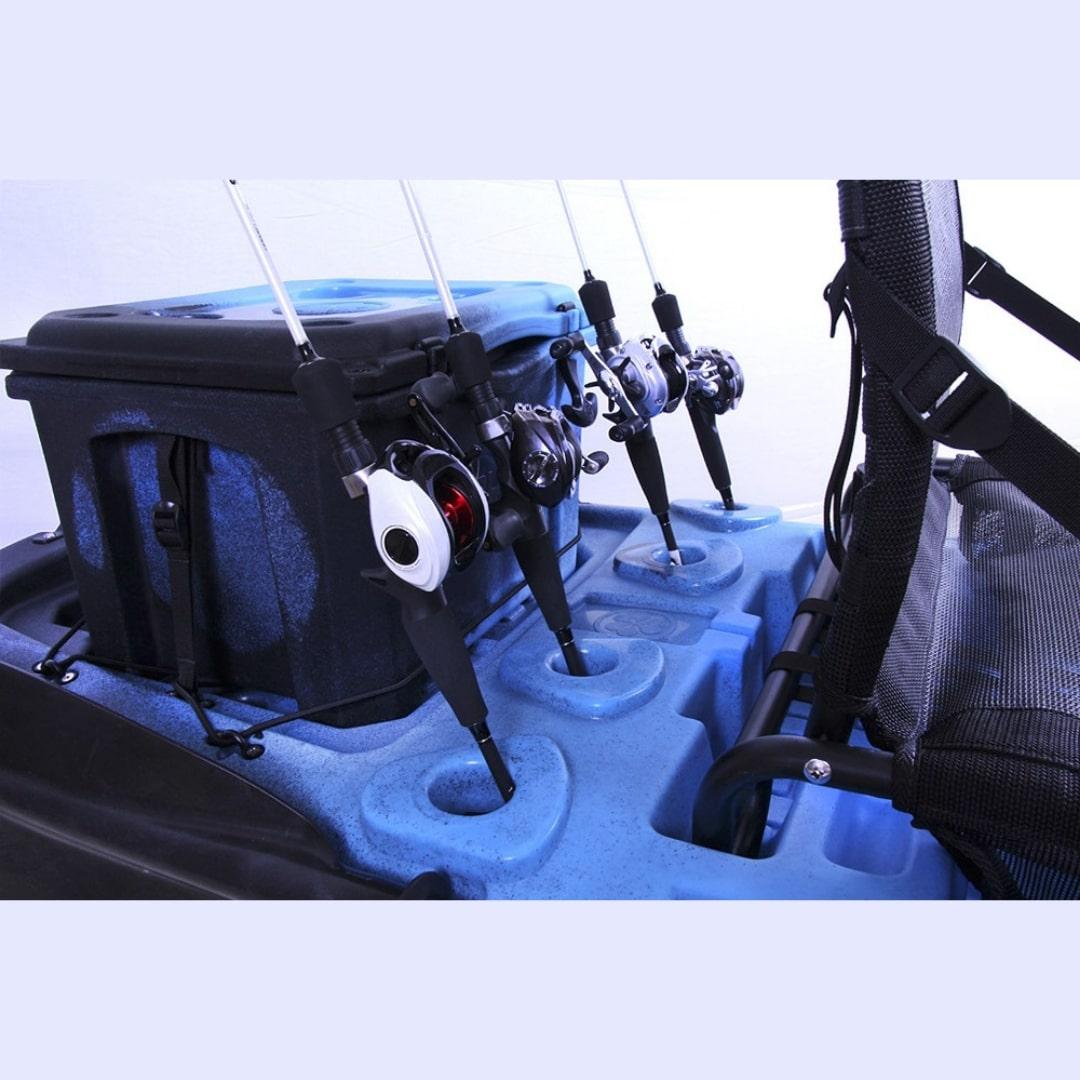 Caiaque Brudden Náutica para pesca Hunter Fishing 285 - Combo Com Cooler 15 L Capacidade de Carga 170 kg