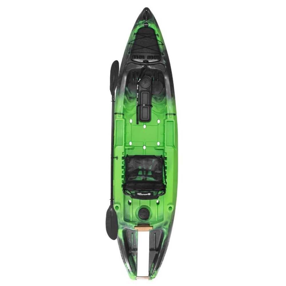 Caiaque Brudden Náutica Safari Power Jet Verde Lima com Espaço para Motor p/ Pesca e Passeios Longos