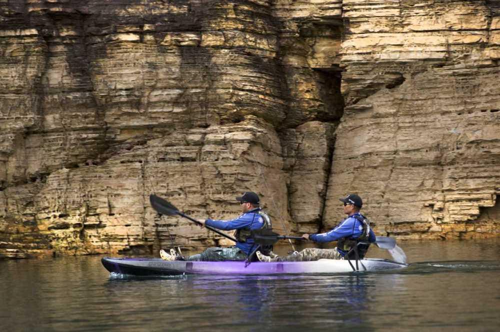 Caiaque Duplo Brudden Náutica Explorer Fishing UP Verde Lima para 2 Pessoas 2 Lugares Pesca Passeio