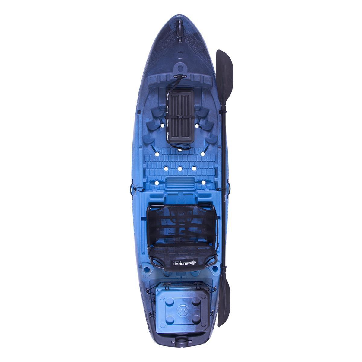 Caiaque para Pesca Brudden Náutica Hunter Fishing 285 Combo Profissional Azul Safira com Cooler 15LT