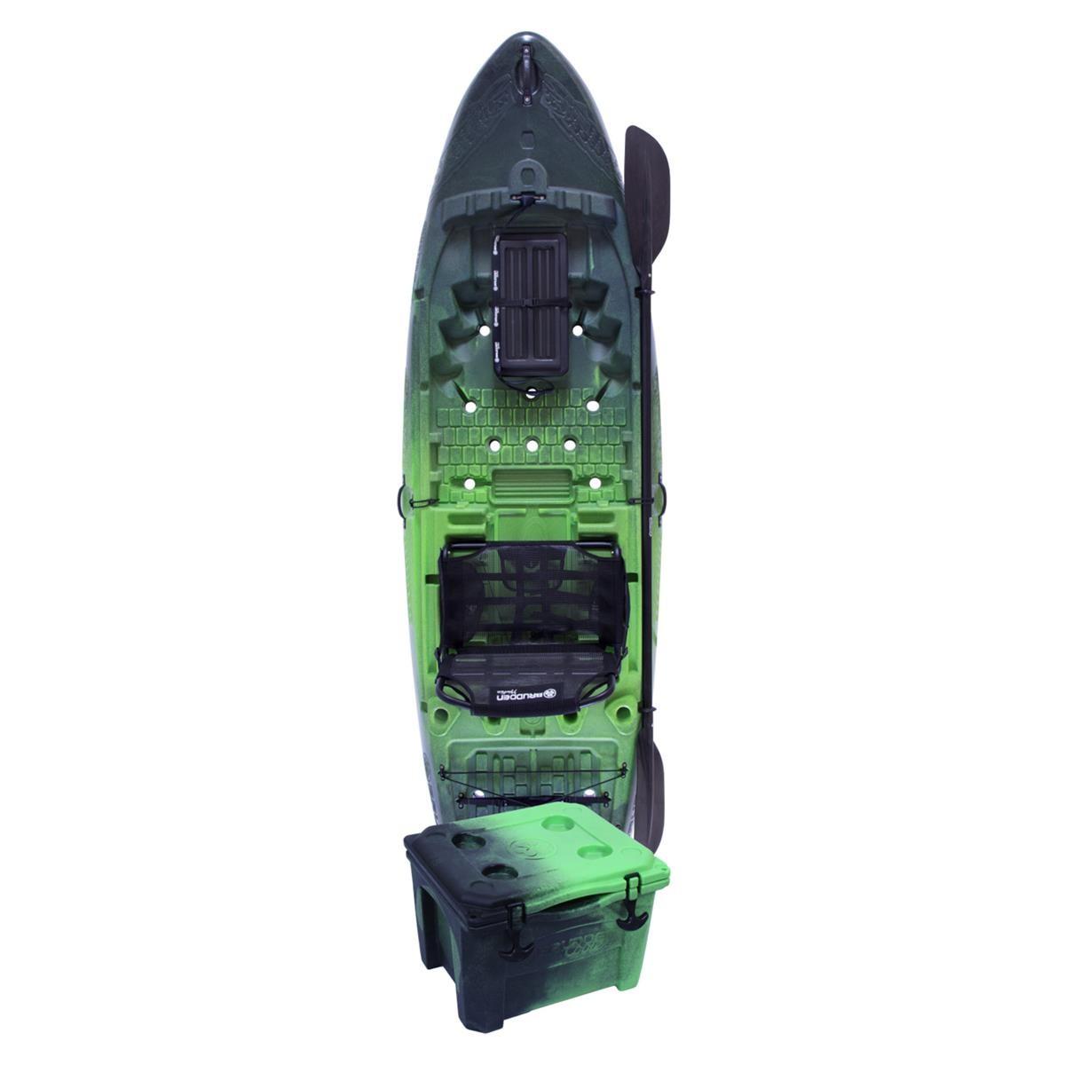 Caiaque para Pesca Brudden Náutica Hunter Fishing 285 Combo Profissional Verde Lima com Cooler 15LT