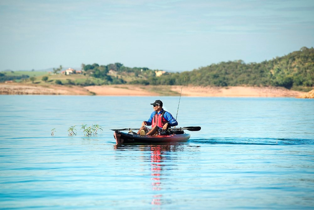 Caiaque para Pesca Brudden Náutica Hunter Fishing UP Verde Escuro Savana Profissional Upgrade