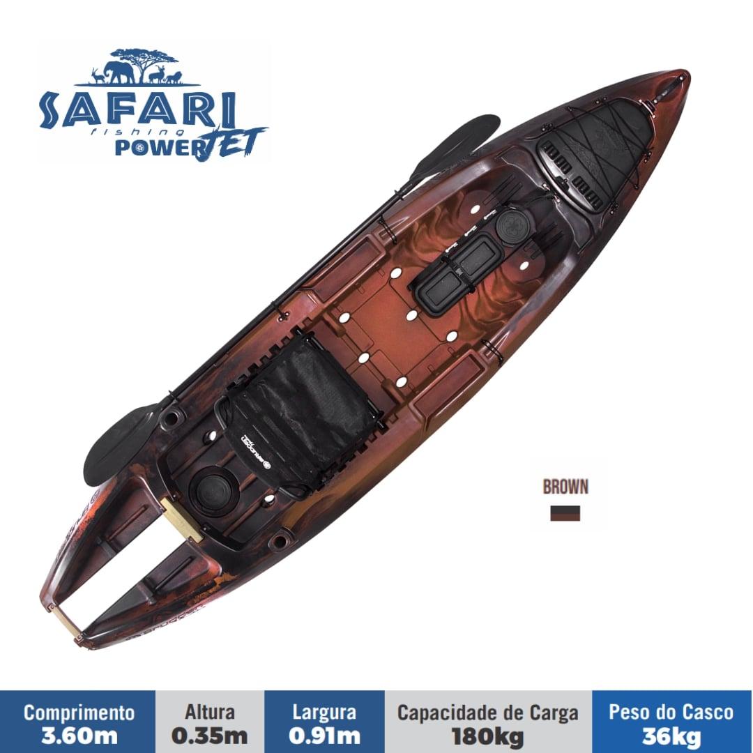 Caiaque para Pesca Brudden Náutica Safari Power Jet Com Suporte Para Motor Capacidade de Carga 180 kg