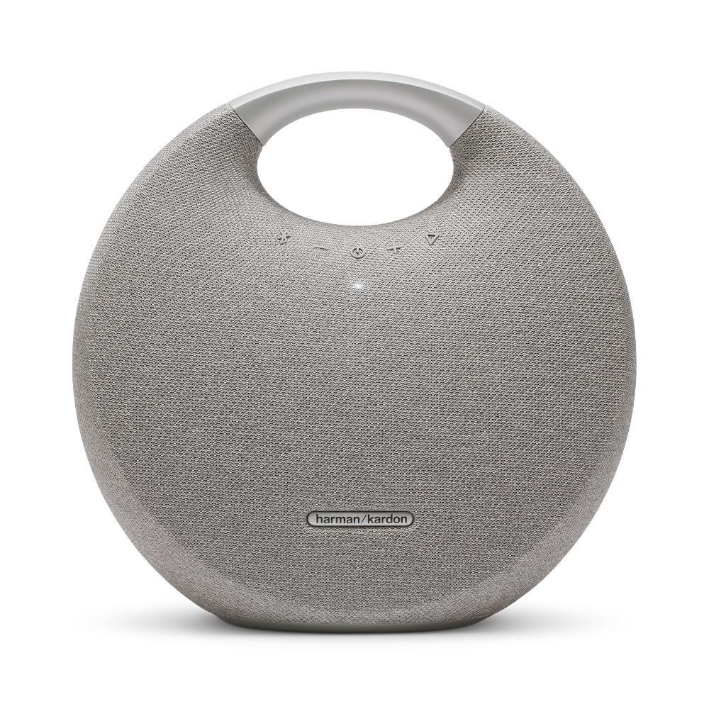 Caixa de Som Bluetooth Harman Kardon Onyx Studio 5 Prata 50 Watts RMS com Bateria 8 Horas de Música