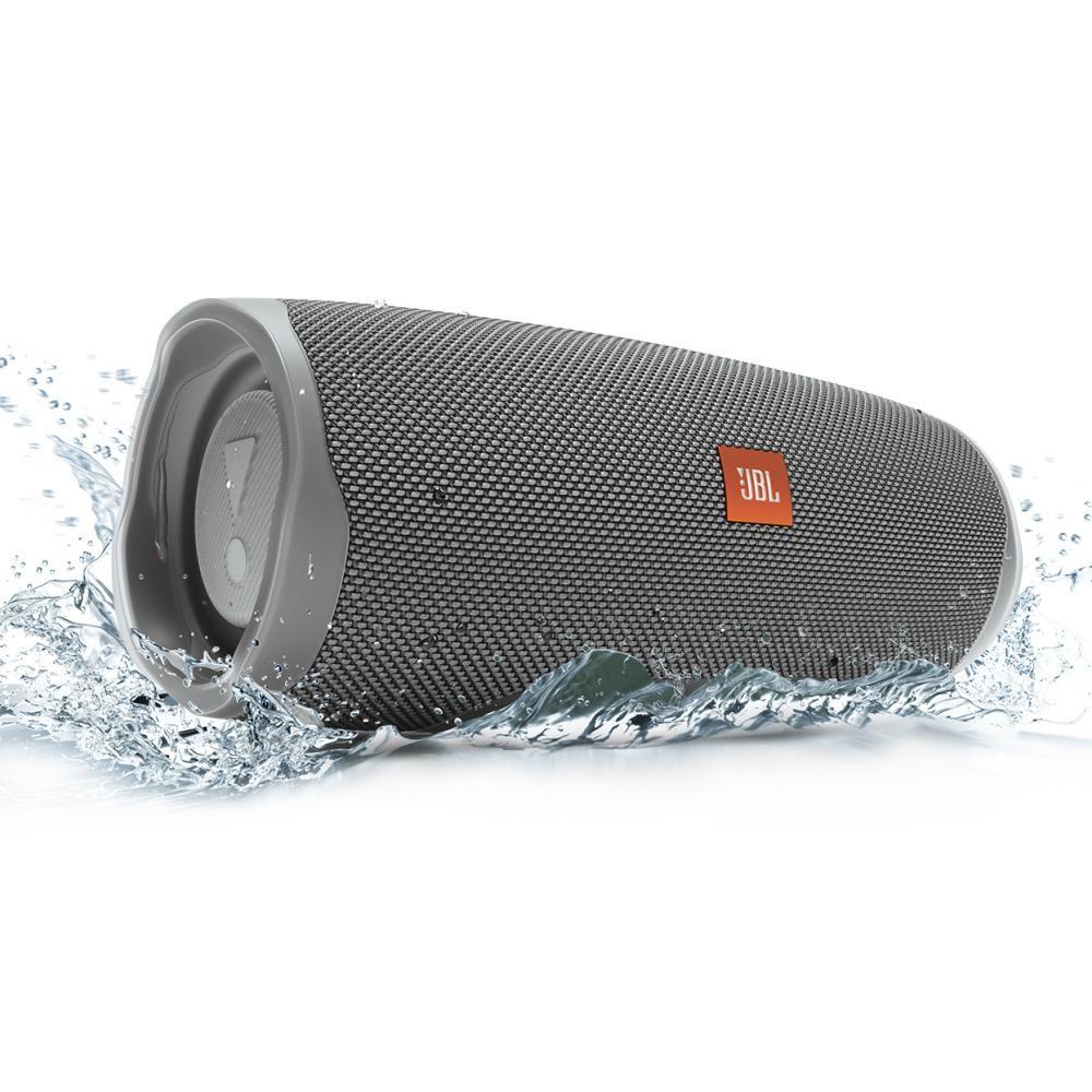 Caixa de som Bluetooth JBL Charge 4 Cinza a prova d'água 20 horas de reprodução