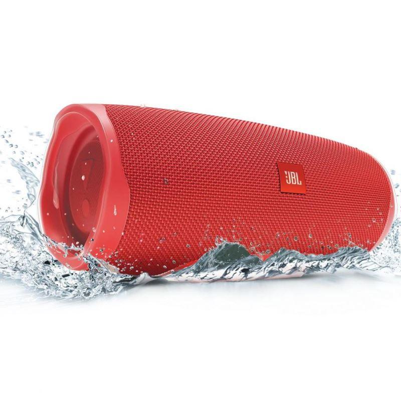 Caixa de som Bluetooth JBL Charge 4 Vermelha a prova d'água 20 horas de reprodução