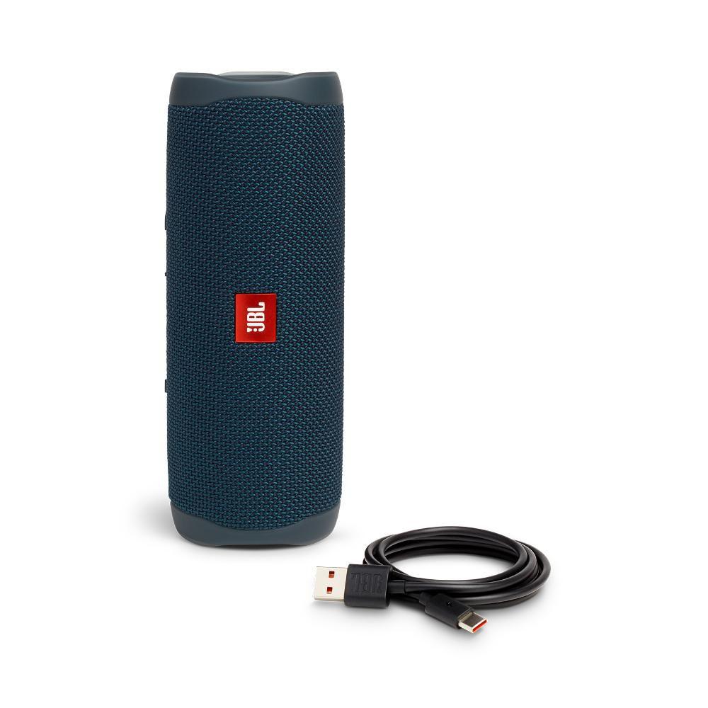 Caixa de Som Bluetooth JBL Flip 5 Azul Blue 20W RMS Partyboost Connect+ Speaker à Prova D'água IPX7