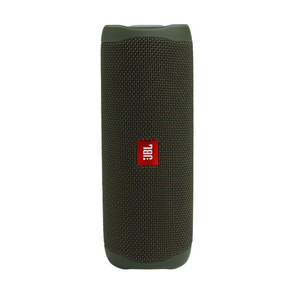 Caixa de Som Bluetooth JBL Flip 5 Verde Green 20W Partyboost Connect+ Speaker à Prova D'água IPX7