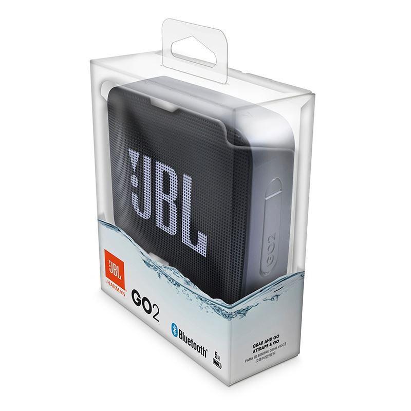 Caixa de Som Bluetooth JBL GO 2  Black Preto à Prova D'água