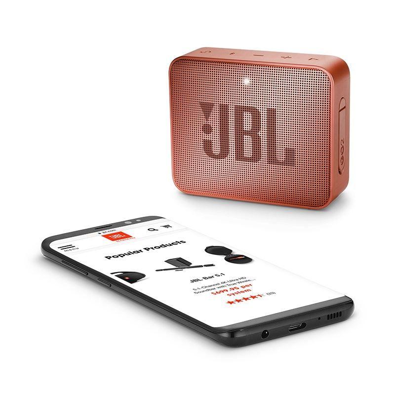 Caixa de Som Bluetooth JBL GO 2 Cinnamon Canela à Prova D'água