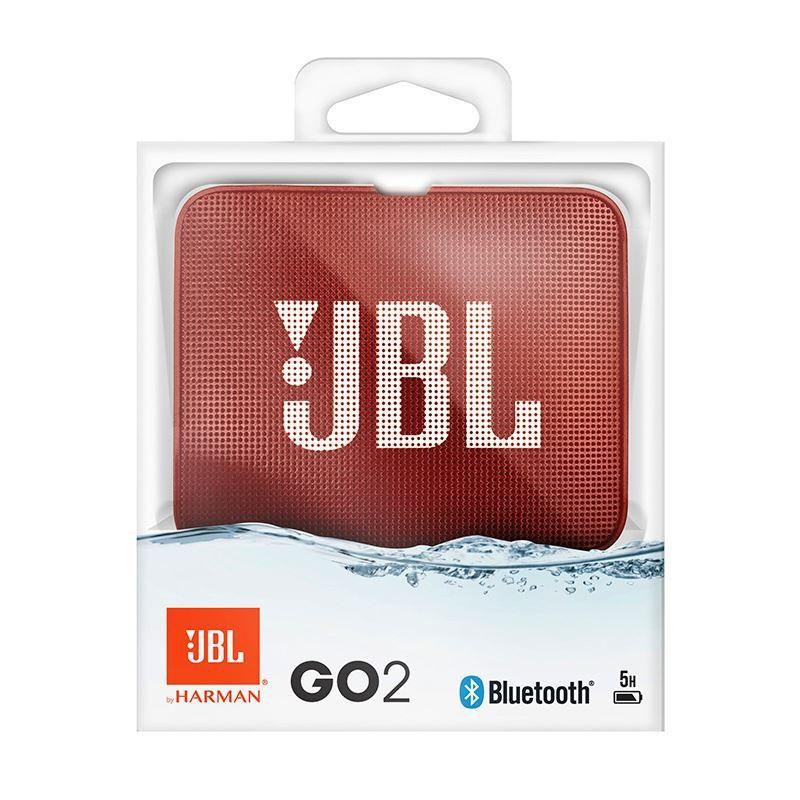 Caixa de Som Bluetooth JBL GO 2 Red Vermelho à Prova D'água