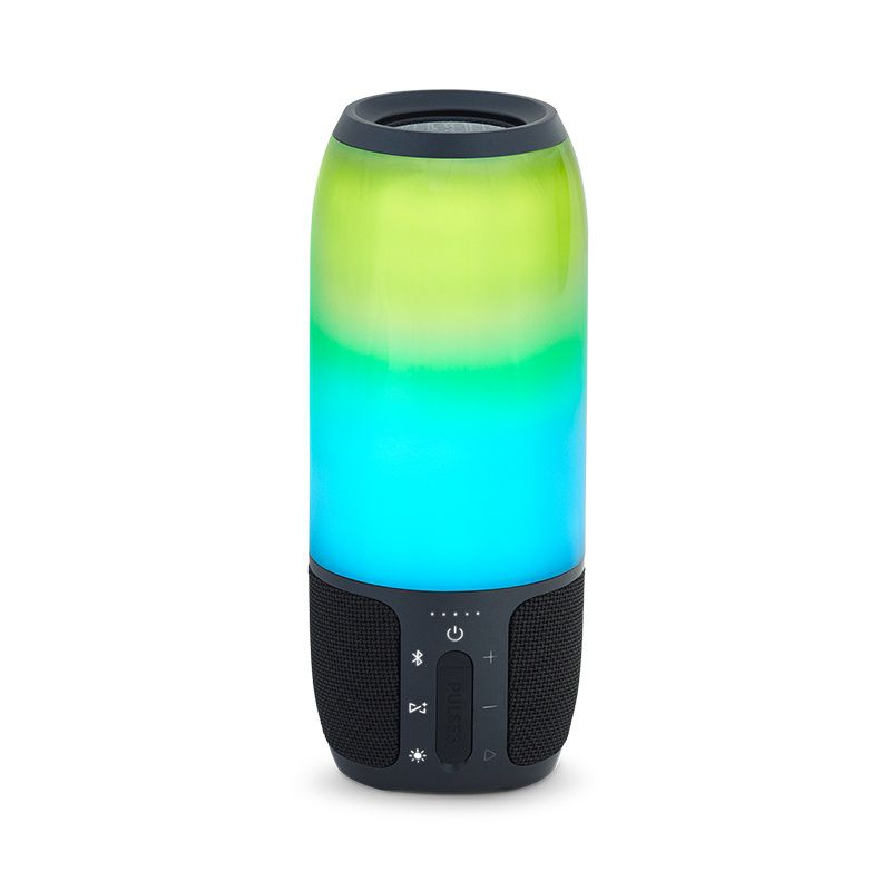Caixa de Som Bluetooth JBL Pulse 3 Preta 20 Watts RMS Com Luzes LED 360º Personalizáveis