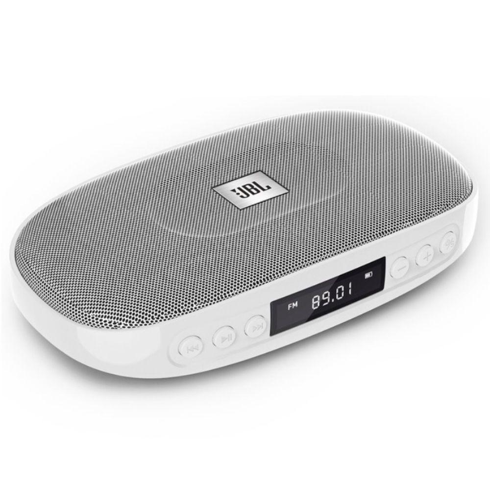 Caixa de Som Bluetooth JBL Tune Rádio FM Entrada USB Micro SD Prata