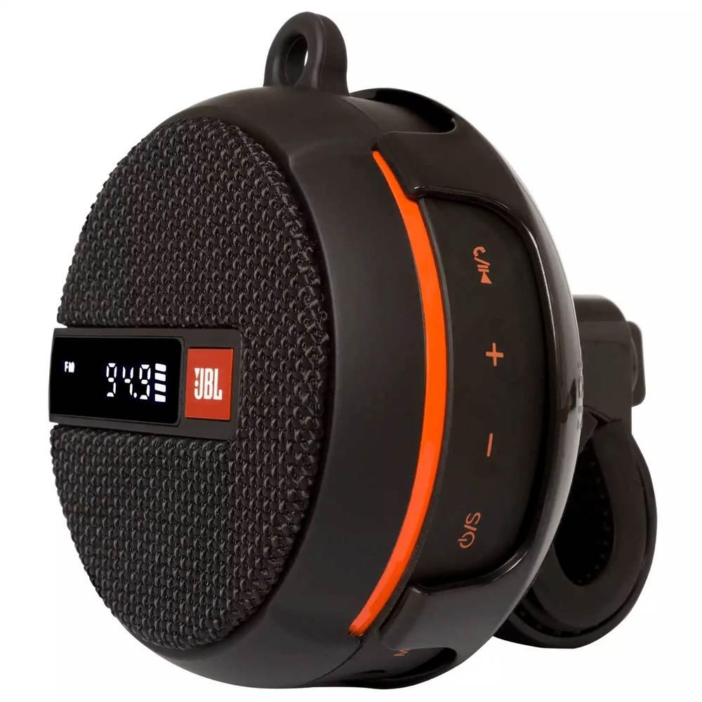 Caixa de Som Bluetooth JBL Wind 2 À Prova D'água com Suporte para Bike Moto Rádio FM Cartão Micro SD