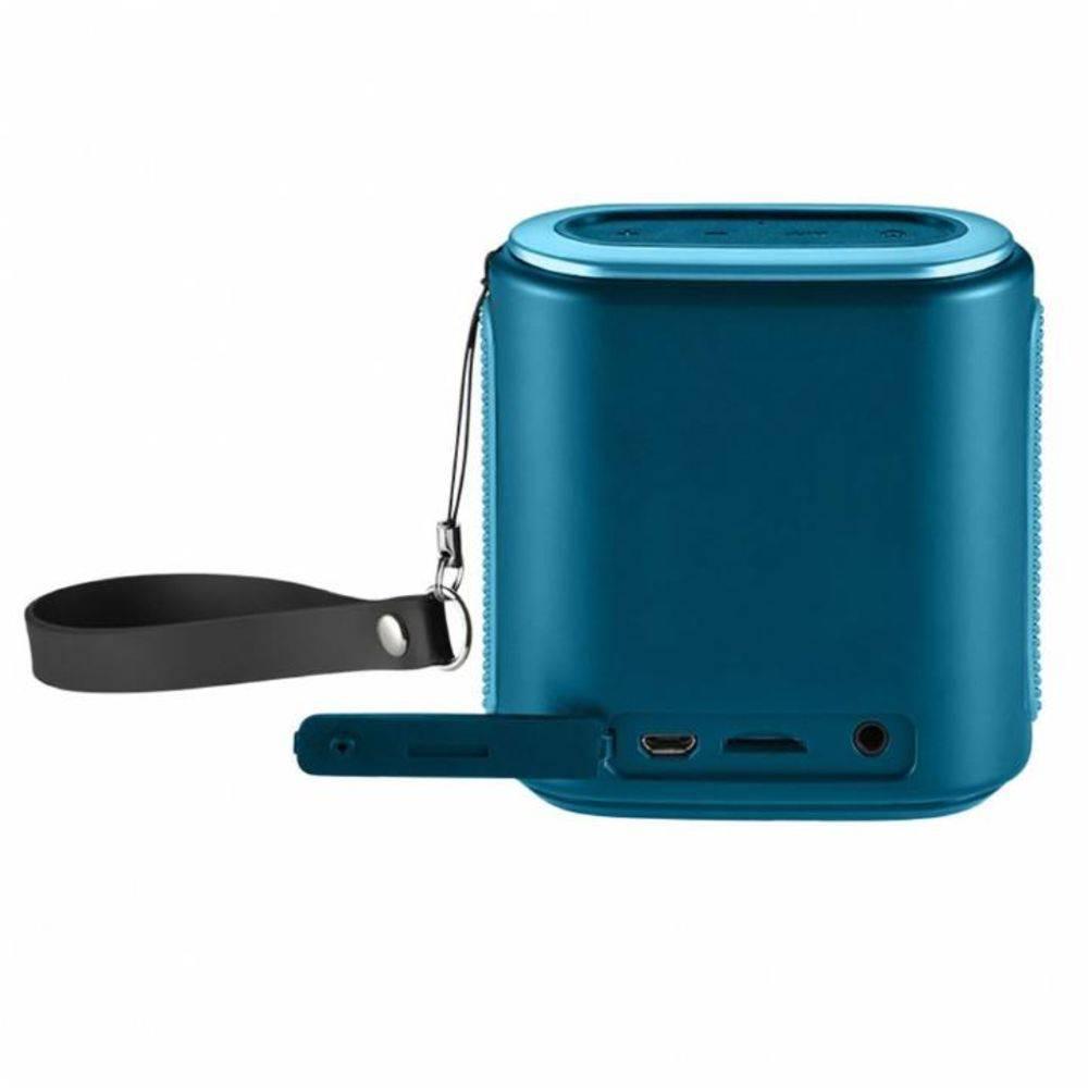 Caixa de Som Bluetooth Pulse Mini SP237 Azul 10W RMS com MP3 Player e Entrada para Cartão