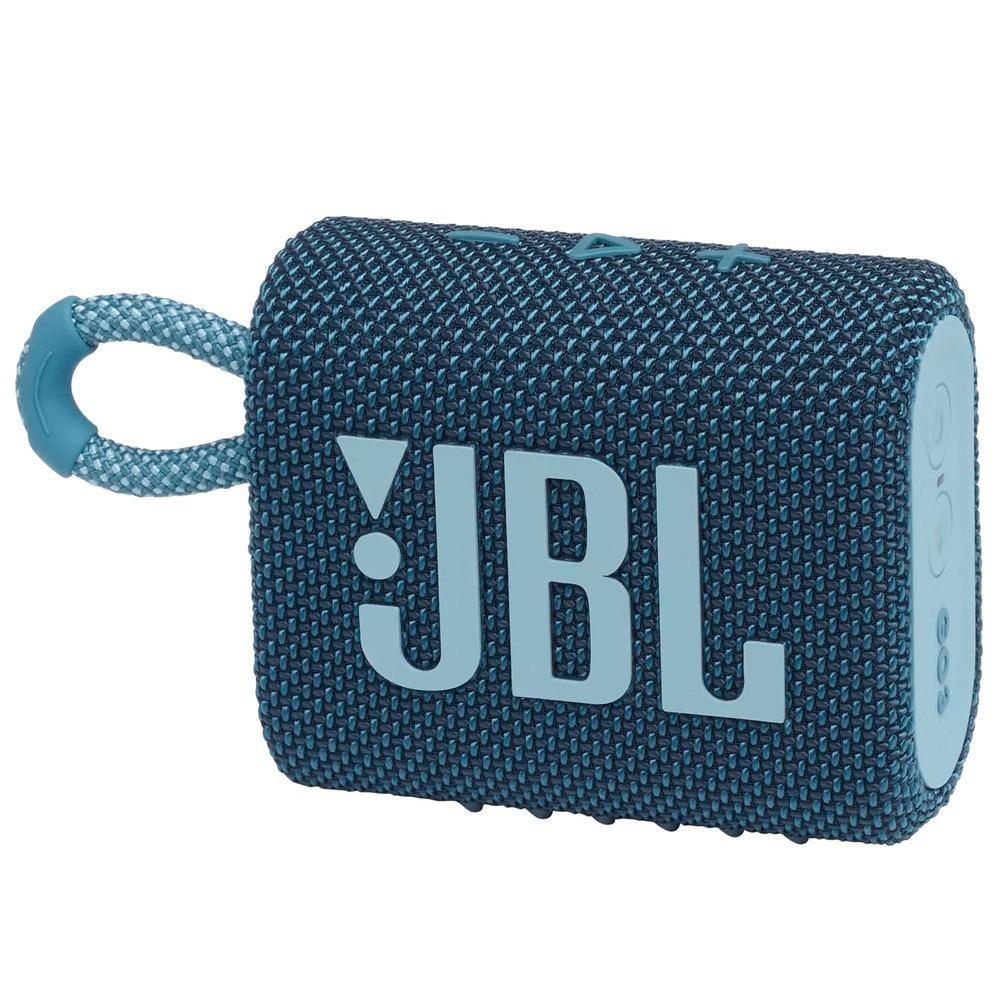 Caixa de Som JBL GO 3 Azul Bluetooth JBL Pro Sound Original À Prova D'água e Poeira IP67 JBLGO3BLU