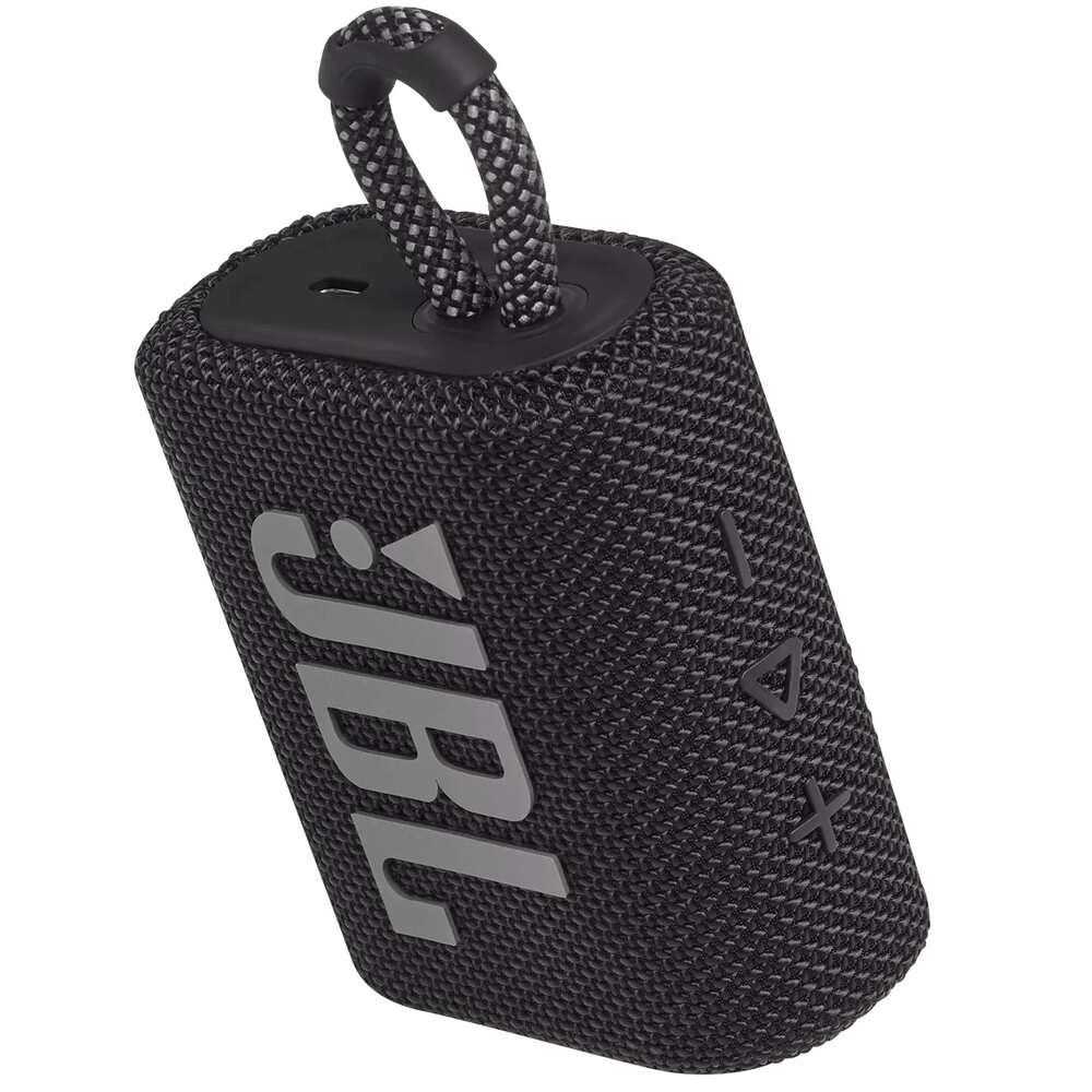 Caixa de Som JBL GO 3 Preta Pro Sound Bluetooth À Prova D'água e Poeira IP67 JBLGO3BLK